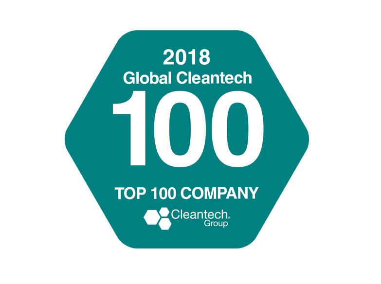 Laureate of the 2018 Global Cleantech 100